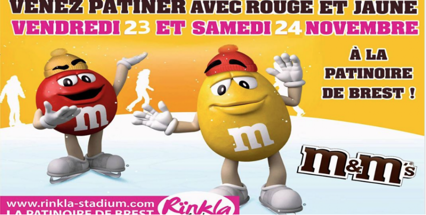 Week-end m&m's à la Patinoire de Brest